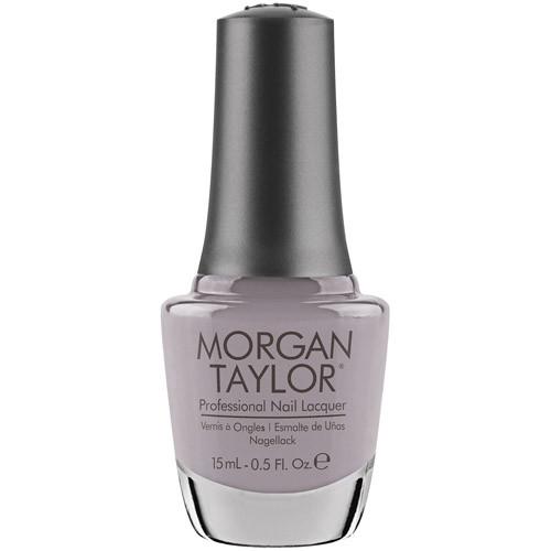 Morgan Taylor's Rule te Runway is gray like your grandmother's Christmas ornaments. (Photo: Loxa Beauty)