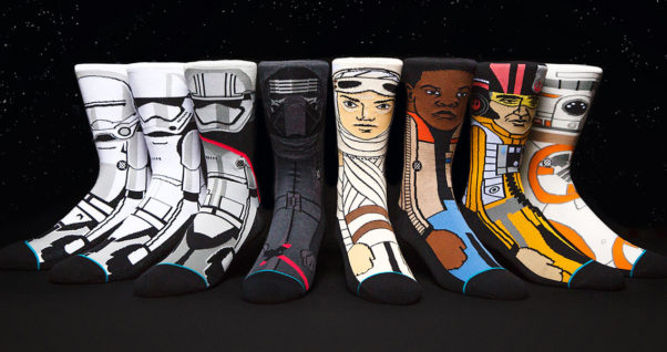 Cool accessories, like these Star Wars socks from Stance, can make a fashion statement. (Photo: Stance)