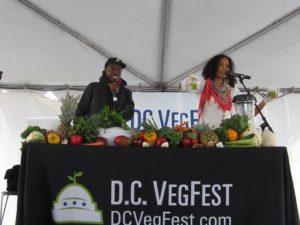 Speakers at one of last year's presentation during D.C. VegFest. (Photo: Compassion Over Killing)
