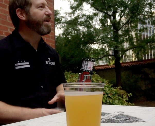 3 Stars head brewer Mike McGarvey serves up the 2016 solidarity brew at a media preview on Tuesday at Heurich House Museum. (Photo: Brightest Young Things)