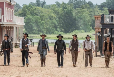 The Magnificent Seven took first place in the box office over the weekend with $34.70 million. (Photo: Sam Emerson/MGM/Columbia PIctures)