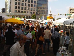 Clarendon Day turns eight blocks around the Clarendon Metro into a party and craft show. (Photo: Arbor Realty)