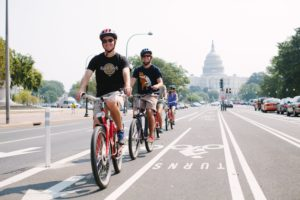 Work off those extra pounds from all the beer you drank during D.C. Beer Week at the Bikes and Brew Brewery Tour starting at noon Saturday. (Photo: Capital City Bike Tours)