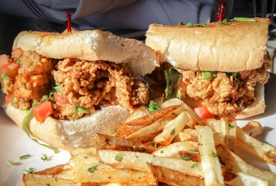 Ben's Upstairs, formerly Ten 01,on H Street NE is serving a mix of Caribbean and Southern Cuisine including fried oyster po'boy sandwiches. (Photo: Ben's Upstairs)
