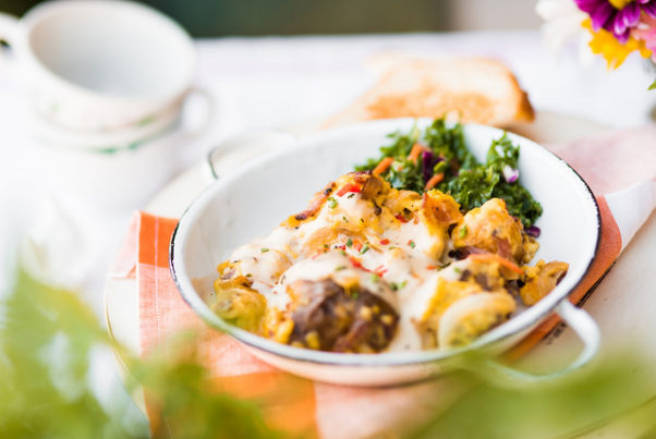 Tupelo Honey Cafe serves a southern poutine scramble at brunch. (Photo: Tupelo Honey Cafe)