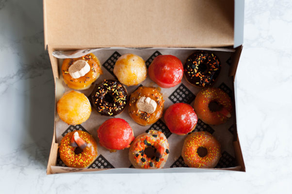 Astro Doughnuts & Fried Chicken will offer a box of Halloween mini doughnuts Oct.  28-31. (Photo: Rachel Lyn Photography)