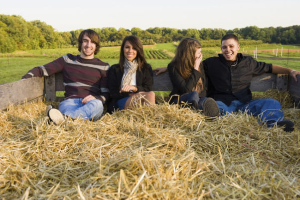 Hayrides during the day are less scary, but still festive! (Photo: Getty Images)