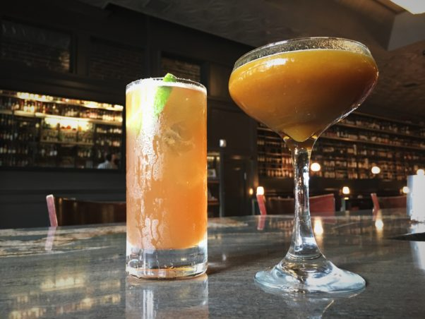 New fall cocktails at Jack Rose Dining Saloon include the Blade Rummer (left) and Headless Scotsman. (Photo: Jack Rose Dining Saloon)