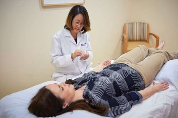 Acupuncture is one holistic treatment that can help reduce stress. (Photo; Memorial Sloan Kettering Cancer Center)