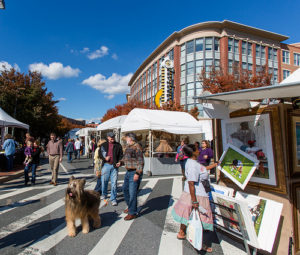The Bethesda Row Arts Festival fills Bethesda Row with nearly 200 juried artisans this weekend. (Photo: ehpien/Flickr))