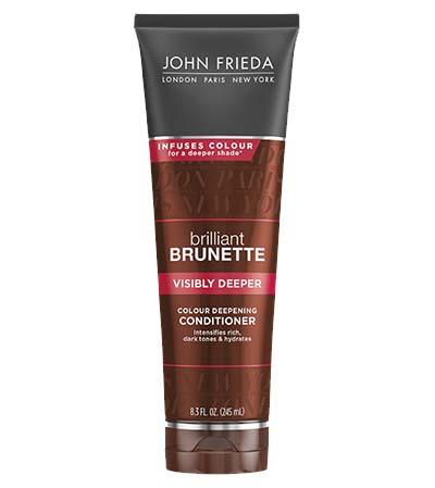 John Frieda's Brilliant Brunette collection adds multidimensional depth to brown locks with a sun kissed glow. (Photo: John Frieda)