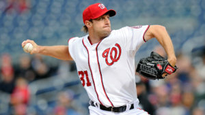 Max Scherzer is the starting pitcher for the Nats in the  National League Division Series against the Los Angeles Dodgers Friday night. (Photo: Getty Images)