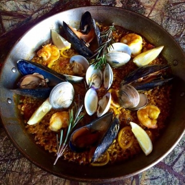 Slate Wine Bar + Bistro is serving chef Danny Lledó's award-winning seafood paella all October long. (Photo: Slate Wine Bar + Bistro)Slate Wine Bar + Bistro is serving chef Danny Lledó's award-winning seafood paella all October long. (Photo: Slate Wine Bar + Bistro)