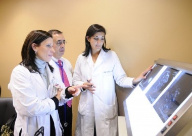 UAB breast cancer oncologists, including Helen Krontiras (far right), said it is important for women to share any history of cancer in their family with their doctor. (Photo: UAB News)
