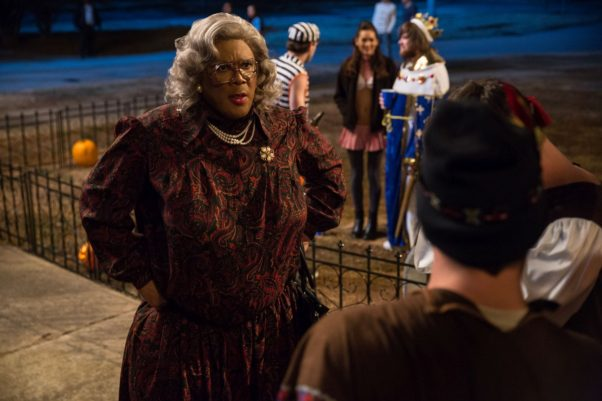 """""""Tyler Perry's Boo! A Madea Halloween"""" beat out  """"Inferno"""" in theaters over the weekend with a $17.22 million take. (Photo: Eli Jacobs/Lionsgate)"""