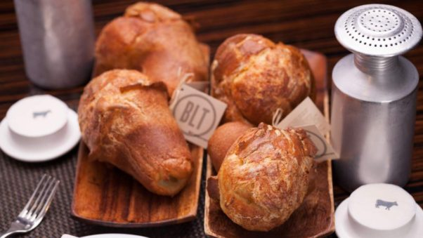 BLT Steak will celebrate its 10th anniversary Tuesday with golden tickets backed inside its signature popovers good for prizes. (Photo: BLT Steak)