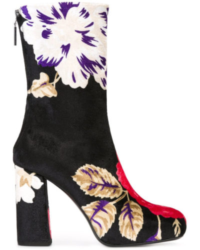 Platform boots are hot for winter, especially in an unexpected print or vibrant color. (Photo: Lyst)