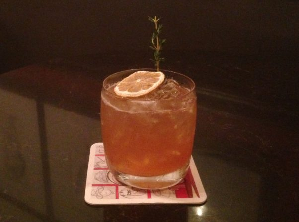 "The ""Trumpy Sour"" at the Hay-Adam's Off the Record bar. (Photo: Off the Record)"