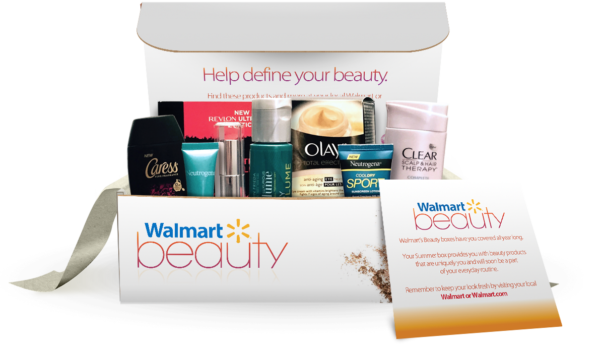 Walmart's beauty box varies in how much you get each month. (Photo: Walmart)