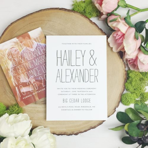 Photo of wedding invitation. (Photo: Basic Invite)