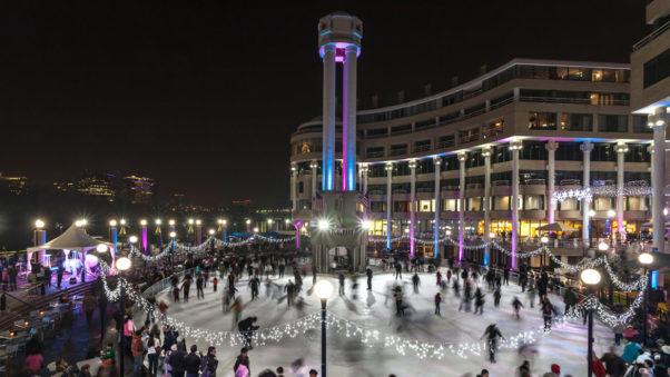 The Washington Harbor ice rink opens for the season on Friday. (Photo: Washington Harbour)