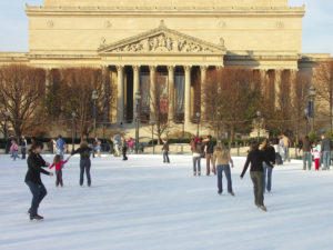 The ice rink at the National Gallery of Art's Scuplture Garden opens at 11 a.m. Friday and remains open until March. (Photo: washington.org)