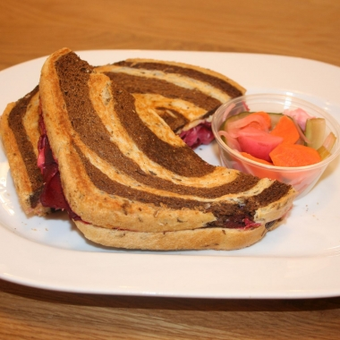 roasted beet rueben at On Rye