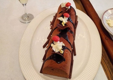 Le Diplomate is selling two kinds of buche de noel for $40 to server at your home Christmas dinner. (Photo: Le Dip;omate/Facebook)