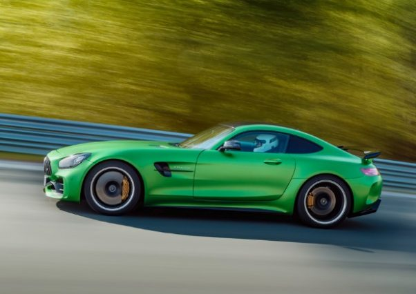 The new 2018 Mercedes AMG GT R in exclusive Green Hell Magno . (Photo: Mercedes-Benz)