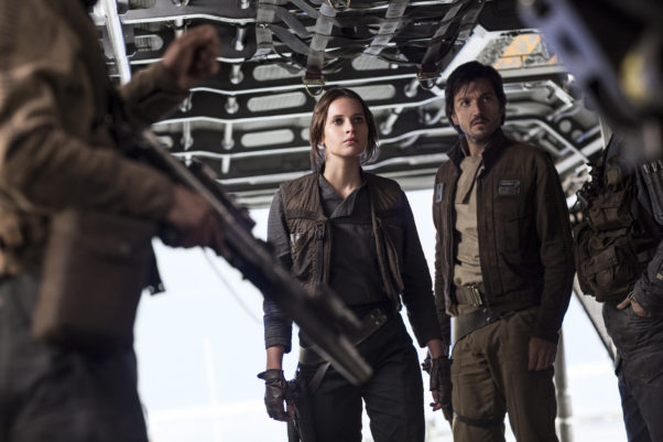 """""""Rogue One: A Star Wars Story"""" beat four holiday newcomers to lead the box office for the second straight weekend. (Photo: Lucasfilm Ltd.)"""