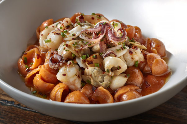 Graffoatto will serve its Feast of the Seven Fishes wotj tjos seashell pasta with shrimp, bay scallops, clams, calamari, tomato and aleppo pepper. (Photo: Graffiato))