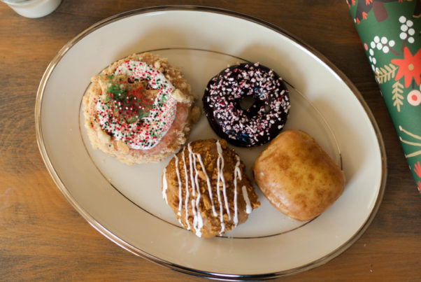 Sprcial Christmas flavored doughnuts from Astro Doughnuts. (Photo: Rachel Maucieri)