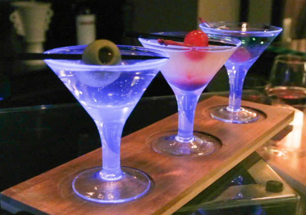 14K Restaurant is offering $15 or $20 sampler flights of three wines, Champagnes, tequilas, bourbons or martinis from 5-10 p.m. Fridays. (Photo: 14K)