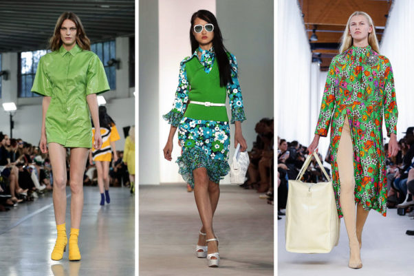 """Greenery"" showed up on the spring 2017 runways of Emilio Pucci l to r), Michael Kors and Balenciaga to name a few. (Photo: New York Times)"