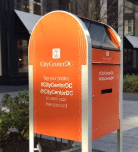 Interactive Hashtage Mailboxes are back at CityCenterDC this weekend. (Photo: CityCenterDC)