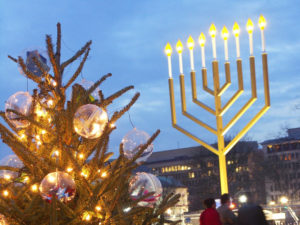 The National Menorah will be lit at 4 p.m. on Dec. 25 and a new candle added each night for eight days. (Photo: washington.org)