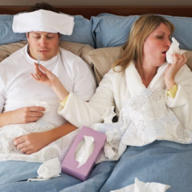 Being sick is no fun, but having a sick buddy can brighten the mood. (Photo: WeSharePics.com)