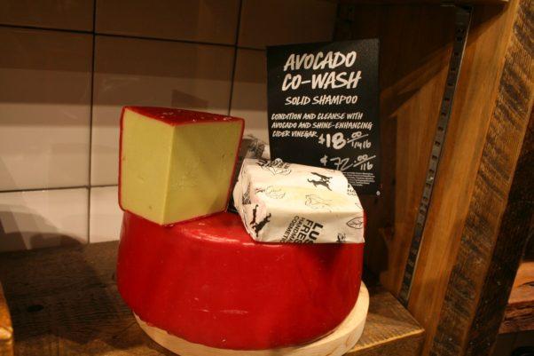 Lush's Avocado Co-Wash is a solid shampoo. (Photo: Mark Heckathorn/DC on Heels)