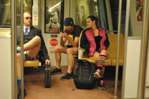 Join subway riders around the world for the No Pants Metro Ride this Sunday at 3 p.m. (Photo: bossi/Flickr)