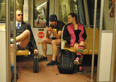 Join subway riders around the world for the No Pants Subway Ride this Sunday at 3 p.m. (Photo: bossi)
