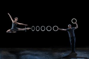 Ballet dancers and jugglers perform together in 4x4: Ephemeral Architectures Sunday at Strathmore. (Photo: Strathmore)