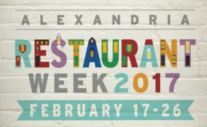 Alexandria Restaurant Week runs from Feb. 17-26. (Image: Visit Alexandria)