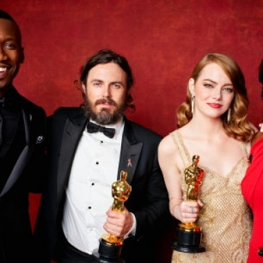 Oscar winners Mahershala Ali (l to r), Casey Affleck, Emma Stone and Viola Davis. (Photo: A.M.P.A.S.)