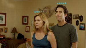 Maggie must find courage to own up to her behavior when she wakes up to find every adult has received a Yelp-like star rating floating over their head. (Photo: Rated the Film)