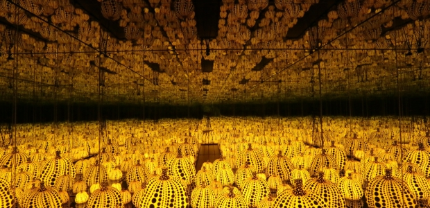 Yayoi Kusama's All the Eternal Love I Have for Pumpkins is included in the Hirshhorn's new display. (Photo: Hirshhorn)