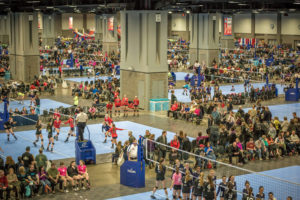 More than 900 teams will competed in the Capitol Hill Volleyball Classic this weekend at the convention center. (Photo: washington.org)