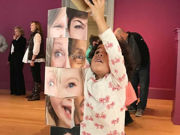 The National Portrait Gallery has a new, hands-on display for kids. (Photo: Explore! Children's Museum)