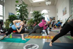 Get your zen on with yoga at the U.S. Botanic Garden. (Photo: Josh Marks)
