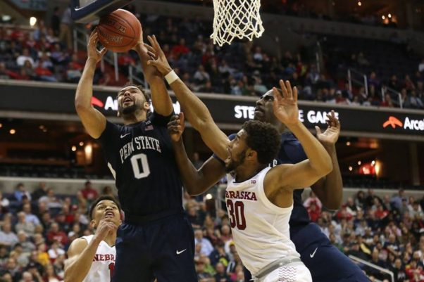 Penn State lost to Nebraska in the first round of the Big Ten Men's Basketball Tournament on Wednesday. (Photo: Big Ten Conference)