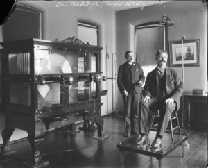 "This ""old electric shock machine"" was used for patient therapy at St. Elizabeths in the early 20th century. (Photo: National Archives and Records Administration)"